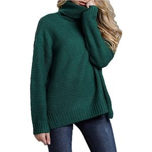 Chunky loose turtleneck sweater